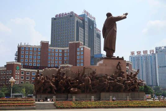 Devant l'hôpital universitaire médical numéro 1 de Shenyang, le 10 juillet.
