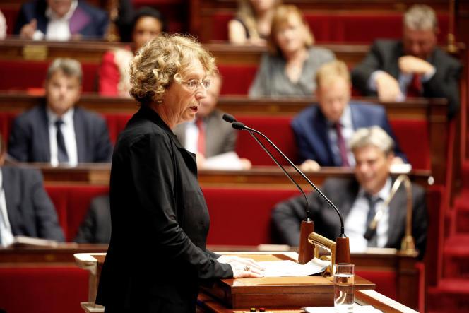 La ministre du travail, Muriel Pénicaud, à l'Assemblée nationale, le 10 juillet.