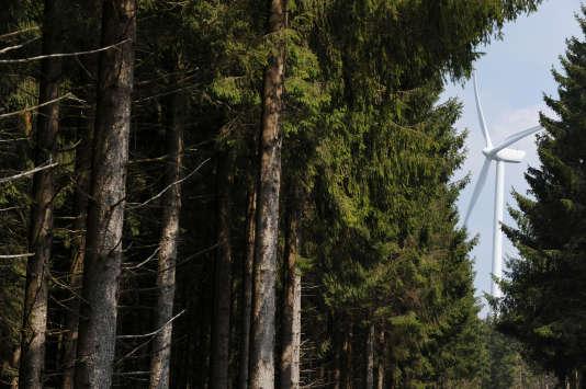 Le projet, porté par la société Les Moulins de Lohan, vise à construire un parc de seize éoliennes. AFP PHOTO REMY GABALDA / AFP PHOTO / REMY GABALDA