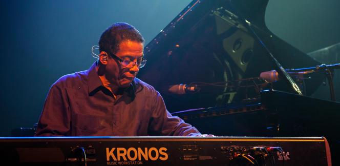 Le pianiste Herbie Hancock en concert au festival de Segré le 9 juillet.