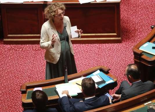 La ministre du travail Muriel Pénicaud au Sénat, à Paris le 6 juillet.