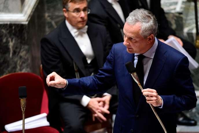 Le ministre de l'économie Bruno Le Maire à l'Assemblée nationale (Paris), le 5 juillet.