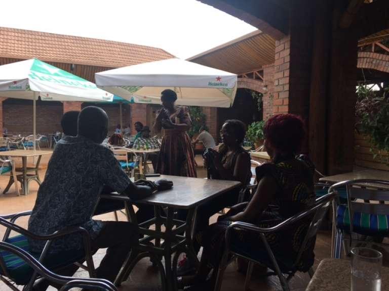 Au restaurant Chez Lando, à Kigali, au Rwanda, en juin 2017.