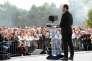 Benoît Hamon lance le Mouvement du 1er juillet, sur la pelouse de Reuilly, à Paris, (12e), le 1er juillet.