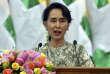 La dirigeante birmane Aung San Suu Kyi le 10 juillet 2017 à Naypyitaw.
