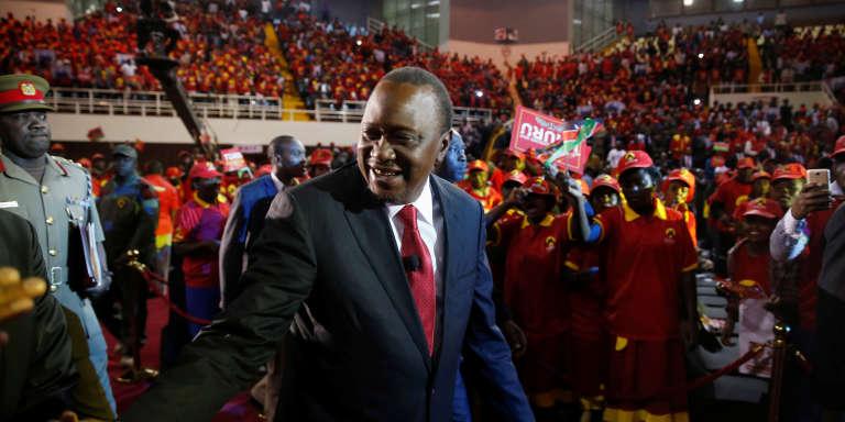 Le président du Kenya, Uhuru Kenyatta, en campagne électorale à Nairobi, le 26 juin 2017.