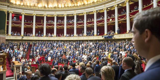 Première séance de la 15e législature à l'Assemblée nationale à Paris, le 27 juin.