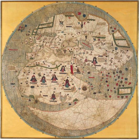 Mappemonde catalane de 1450.