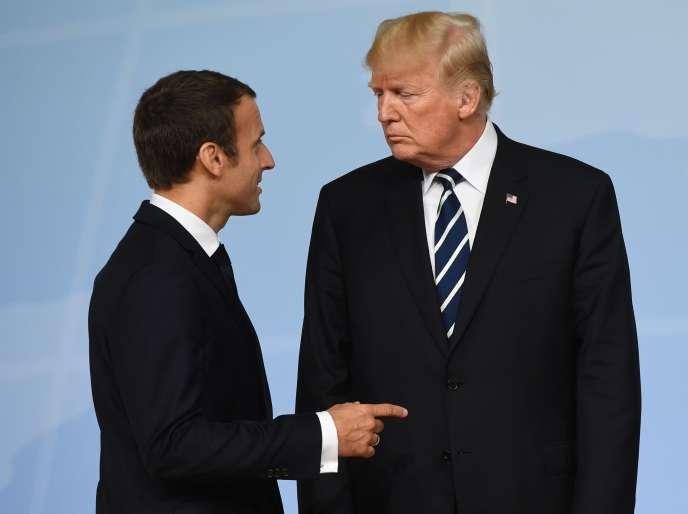 «Respecter l'accord de Paris revient à imposer aux quelques firmes qui se partagent l'énorme gâteau des combustibles fossiles de laisser dans le sol 80% des réserves connues de charbon, de pétrole et de gaz» (Emmanuel Macron et Donald Trump, le 7juillet, à Hambourg lors du sommet du G20).