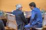 Justin Trudeau et Jean-Claude Juncker, lors du sommet du G20 à Hambourg (Allemagne), le 8 juillet.