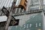 Le siège social de Lehman Brothers, à New York, le 14 septembre 2008.