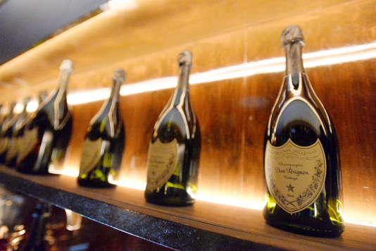 Du champagne Dom Pérignon servi lors de la soirée Young Hollywood de Vanity Fair et de L'Oréal Paris, le 21février 2017.