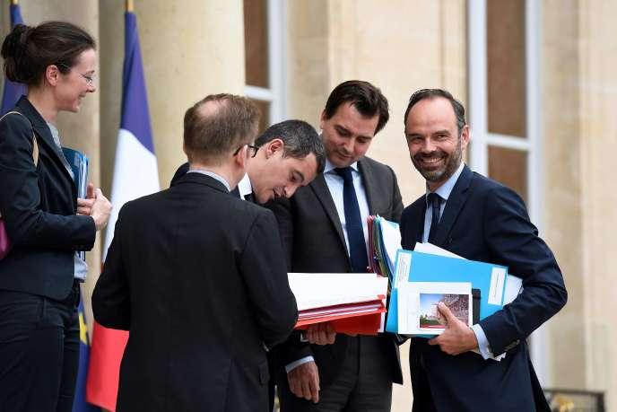 Le premier ministre Edouard Philippe à l'Elysée, le 11 juillet.
