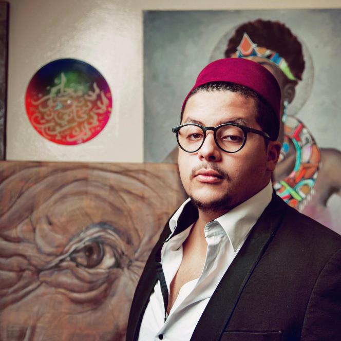 Mohammed ElBellaoui, alias« Rebel Spirit», auteur de BD à Casablanca, au Maroc.