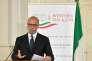 Le ministre des affaires étrangères italien, Angelino Alfano, lors d'une conférence de presse, avant le sommet des Balkans à Trieste, le 11 juillet.