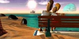 Twinsen et Zoé, les héros de« Little Big Adventure 2» (1997).