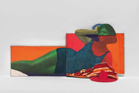 Martial RAYSSE Soudain l'été dernier, 1963 126 x 227 x 58 cm.