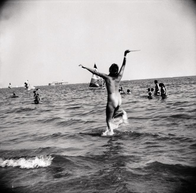 La plage d'Héliopolis, dans les années 1970.