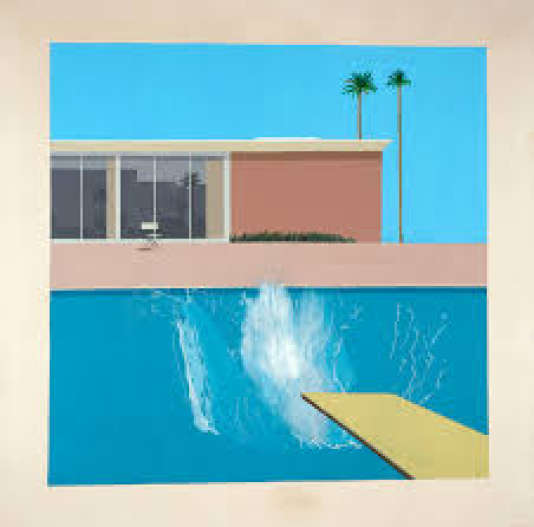 Expo : au Centre Pompidou, David Hockney. A Bigger Splash -1967