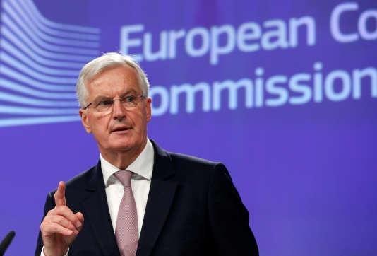 Michel Barnier, le négociateur en chef de l'Union européenne pour le Brexit, en conférence de presse à Bruxelles, le 12 juillet.