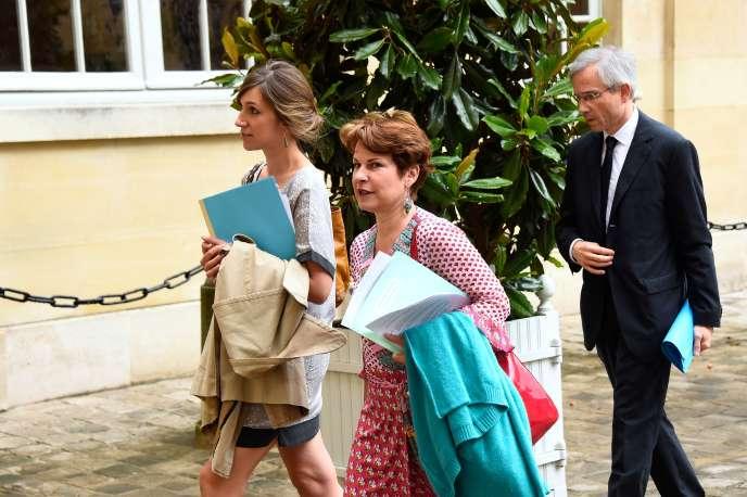 Elisabeth Pelsez à son arrivée à Matignon.