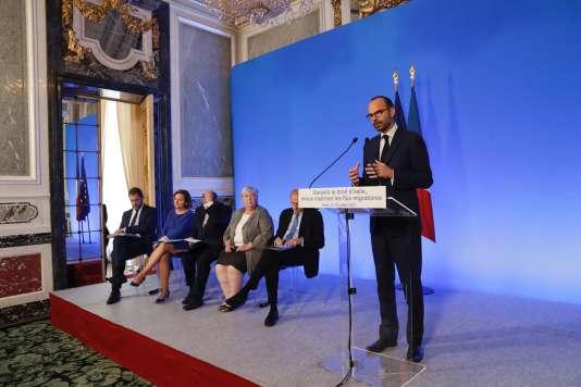 Le premier ministre Edouard Philippe à Paris, le 12 juillet.