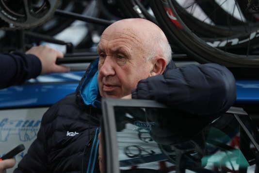Hilaire Van der Schueren, lors de la 2e étape de l'Etoile de Bessèges, à Nîmes, le 2 février. GARNIER éTIENNE / PRESSE SPORT