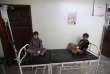 Deux garçons suspectés d'avoir le choléra à l'hôpital de Sanaa en juillet 2017.