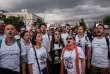Des participants à la «marche pour la justice» entre Izmir et Derince, le 4 juillet.