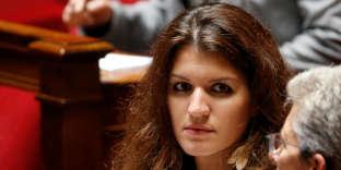Marlène Schiappa, sur le banc des ministres à l'Assemblée nationale, le 12 juillet.