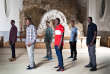 Des membres du groupe Soudan Célestins Music, à la source des Célestins, à Vichy (Allier), le 29 juin.