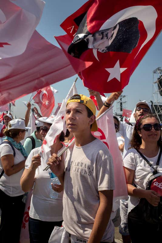 Arrivée de la« marche pour la justice», à Istanbul, le 9 juillet.
