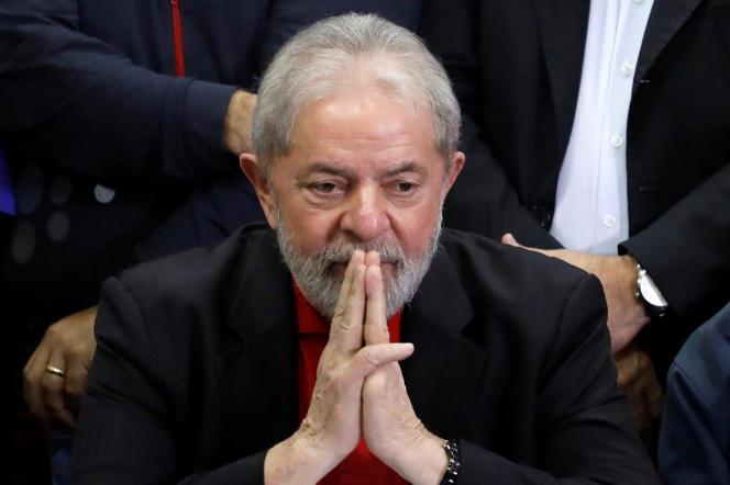 L'ancien président brésilien Luiz Inacio Lula da Silva, le 13 juillet 2017.