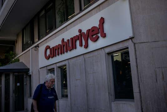 La façade du quotidien d'opposition «Cumhuriyet», fondé en 1924, à Istanbul, le 5 juillet.