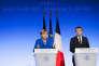 «Les deux dirigeants doivent entraîner l'Europe vers des objectifs plus ambitieux et contraignants pour le développement des énergies renouvelables et l'efficacité énergétique» (Angela Merkel et Emmanuel Macron à l'Elysée, le 13 juillet).