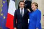 « M. Macron insiste sur l'insuffisante centralisation de l'union monétaire. De son côté, Mme Merkel considère les responsabilités nationales insuffisantes. La chancelière redoute qu'un budget de la zone euro soit dépensé de manière irresponsable»Emmanuel Macron et Angela Merkel le 13 juillet à Paris).