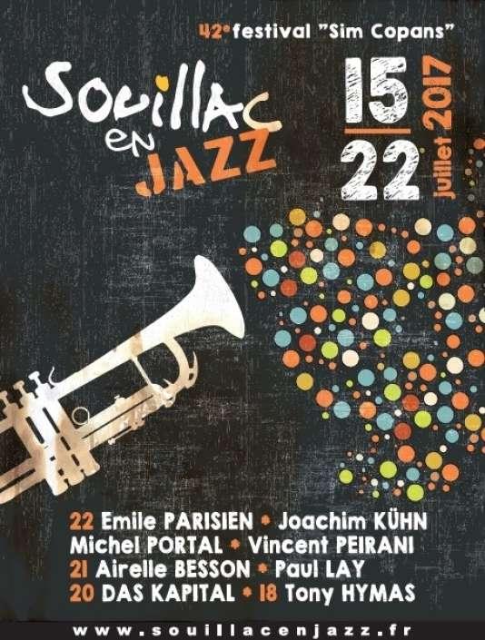Affiche de la 42e édition du festival Souillac en jazz.