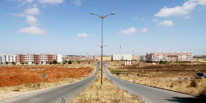 Dans le centre-ville abandonné de Tamesna, en juin 2017, dix ans après sa création.