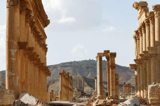 Le théâtre antique de Palmyre, en Syrie, en mars 2017.