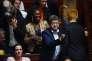 Dans les rangs des députés de La France insoumise, le 10 juillet, lors du début du débat sur le projet de loi.