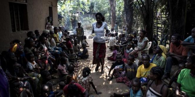 A Kikwit, des refugiés qui ont fui le conflit dans la région centrale du Kasaï, le 7 juin 2017, en République démocratrique du Congo. Plus de 1,3 million de personnes sont déplacées à l'intérieur du pays à cause des violences qui opposent la police et les milices Nsapu.