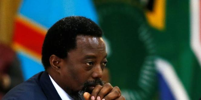 Le président de la République démocratique du Congo, Joseph Kabila, à Pretoria, en Afrique du Sud, le 25 juin 2017.