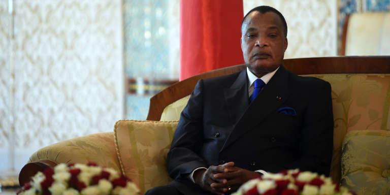 Le président congolais, Denis Sassou Nguesso, à Alger, le 27mars 2017.