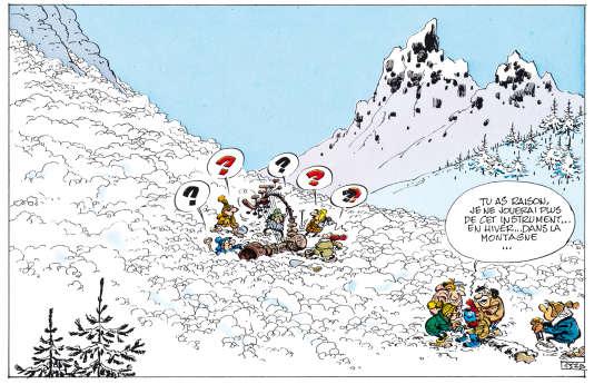 Vignette tirée de l'album de Franquin «Lagaffe nous gâte» (Dupuis, 1970).