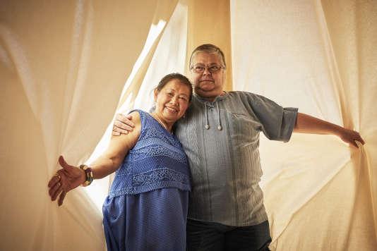 Anh Tran Nghia et Cristina Vidal,à Avignon, le 13 juillet.