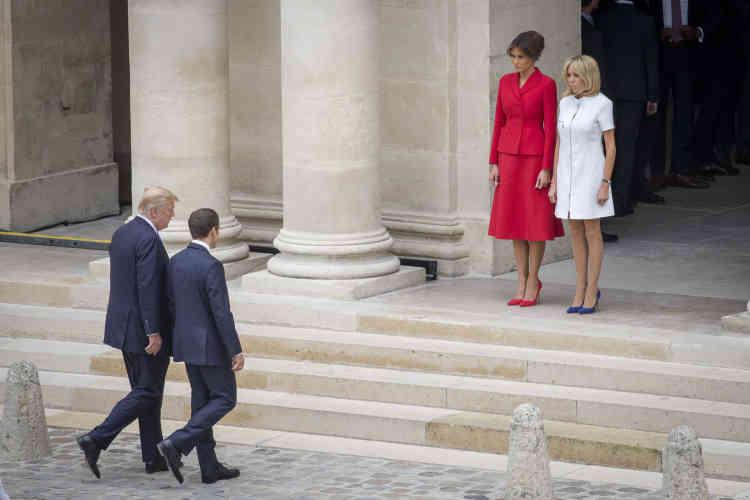 Le président Trump est venu accompagné de son épouse, Melania Trump.