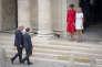 Cérémonie d'accueil de Donald Trump, président des Etats Unis par Emmanuel Macron, président de la République française à l'Hôtel national des Invalides à Paris