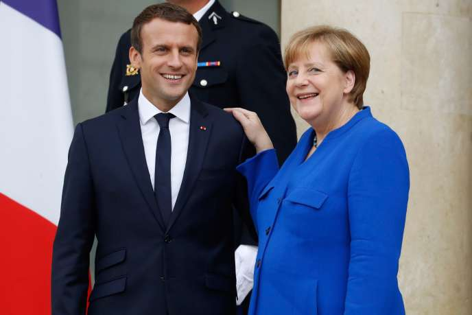 Emmanuel Macron et Angela Merkel, le 13 juillet à l'Elysée.