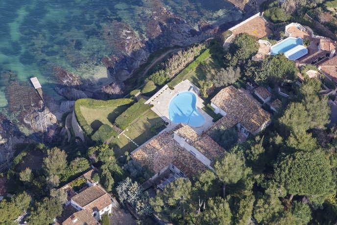 Villa de Bernard Arnault, le 23 janvier 2015 à Saint-Tropez.