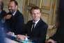 Emmanuel Macron et Edouard Philippe lors d'une rencontre avec la chancelière allemenande, à l'Elysée, le 13 juillet.